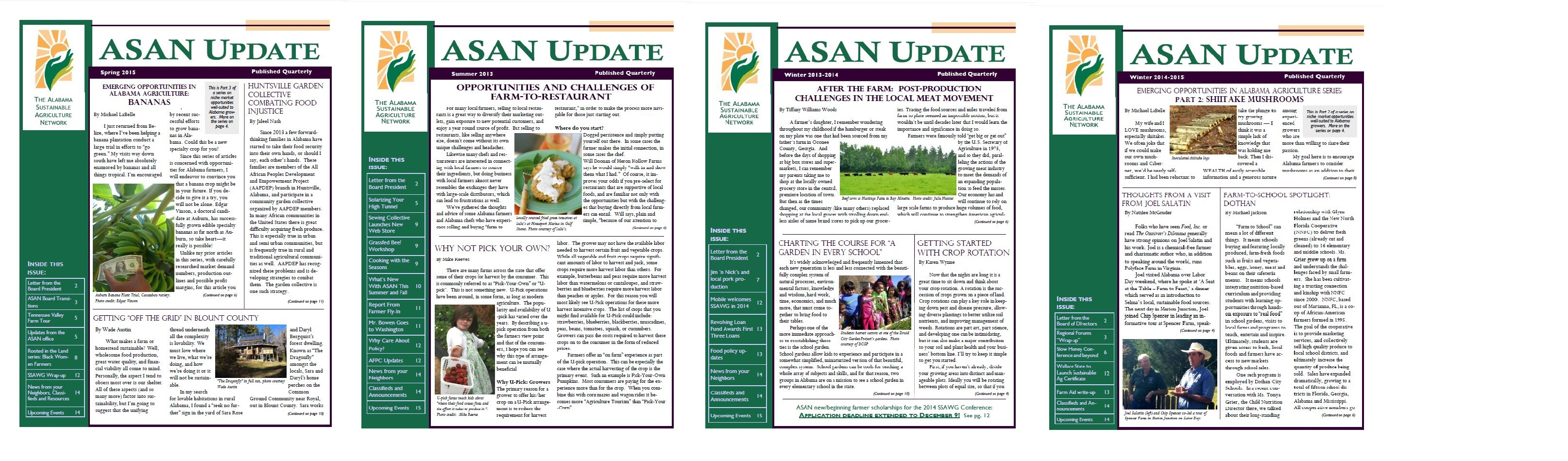 Archived Issues of ASAN Update (Quarterly Newsletter)